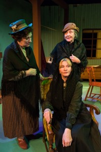 Wendy Ishii (Juno Boyle), Eva Wright, (the Neighbour) and Kate Colby (seated, Mrs. Tancred). Photo courtesy of William A. Cotton