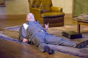 Steven P. Sickles as Harold in OpenStage Theatre's production of Orphans by Lyle Kessler. Photography by Steve Finnestead Photography