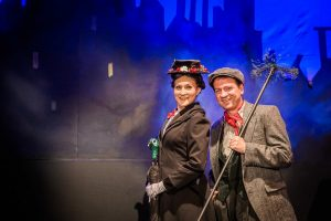 Colleen Johnson and Vince Wingerter as Mary Poppins and Bert. Photo credit: Christina Gressinau.