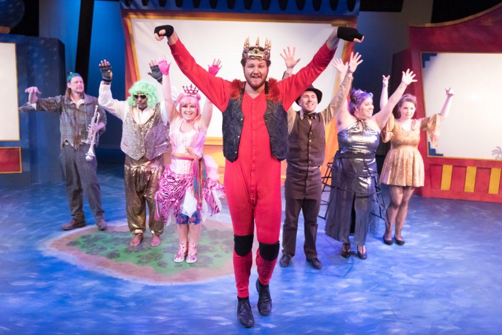 "The Bas Bleu Theatre Company rehearses its production of ""The Flea and the  Professor 0e3c182d38c4e"